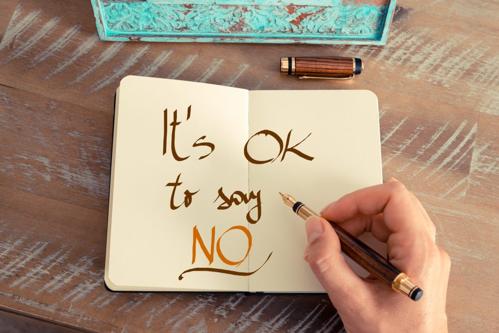positive affirmation its ok to say no