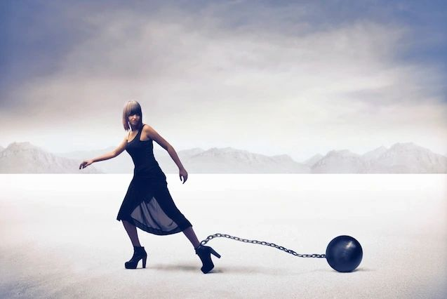 Limiting beliefs like a ball and chain