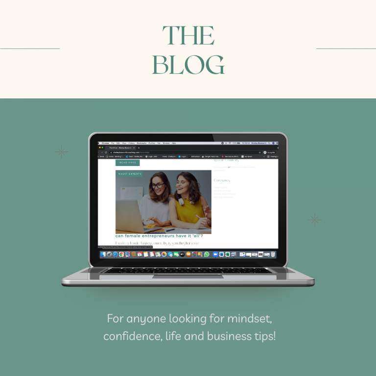 blog page link on screen